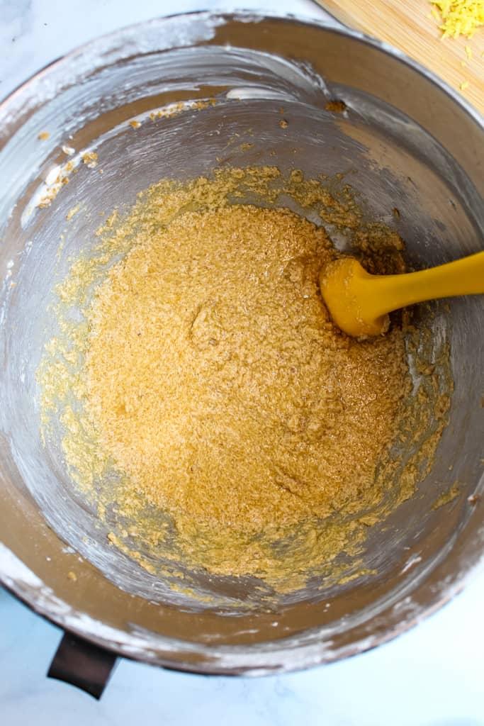 gluten free lemon poppy seed muffin batter
