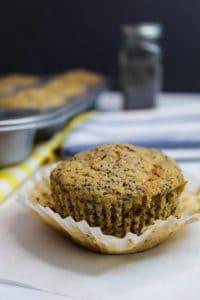 gluten free lemon poppy seed muffins baked