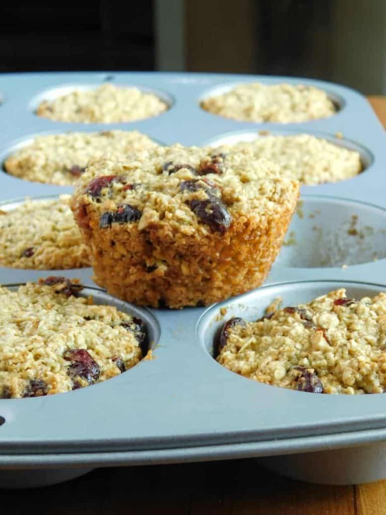 gluten free dairy free cranberry orange muffins baked