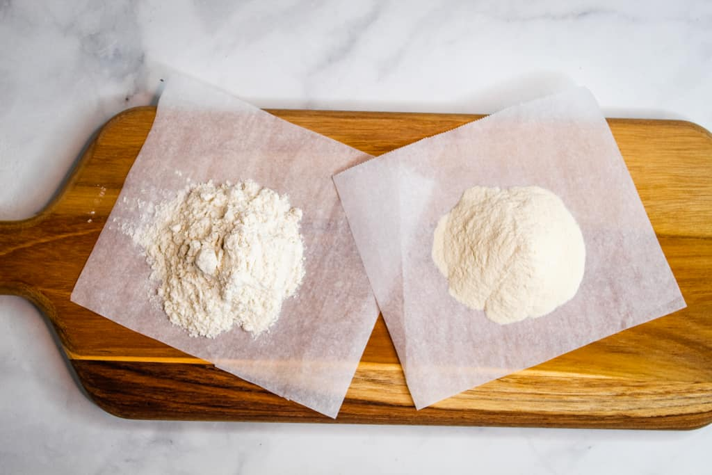 guar gum and xanthan gum side by side