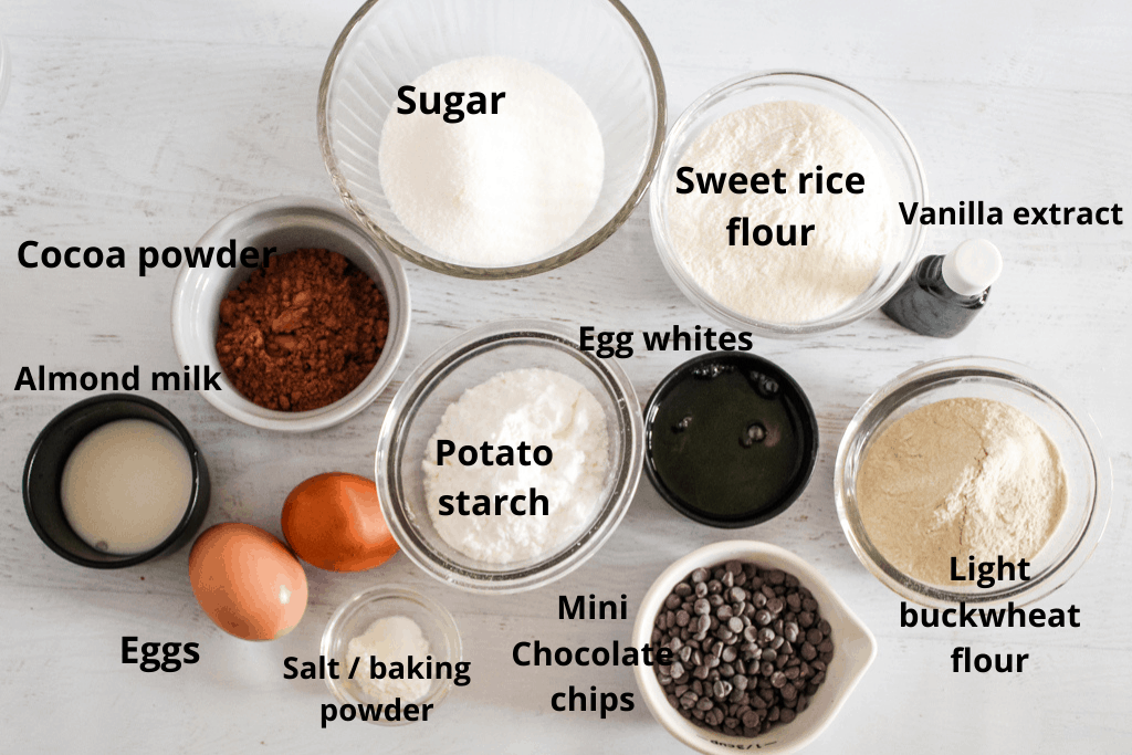 overhead shot of ingredients on a counter a