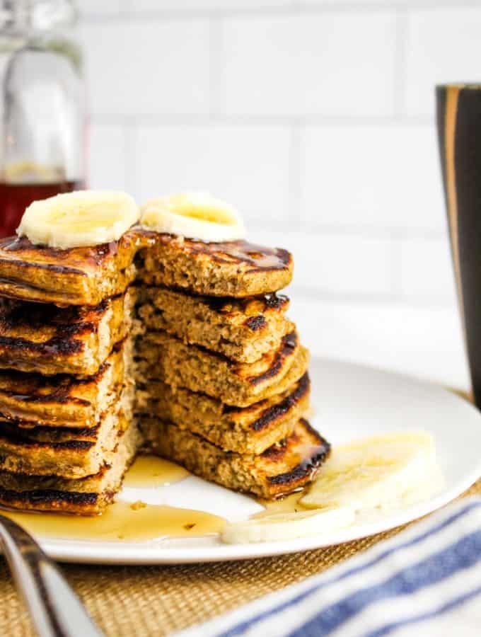 side shot of inside of pancakes