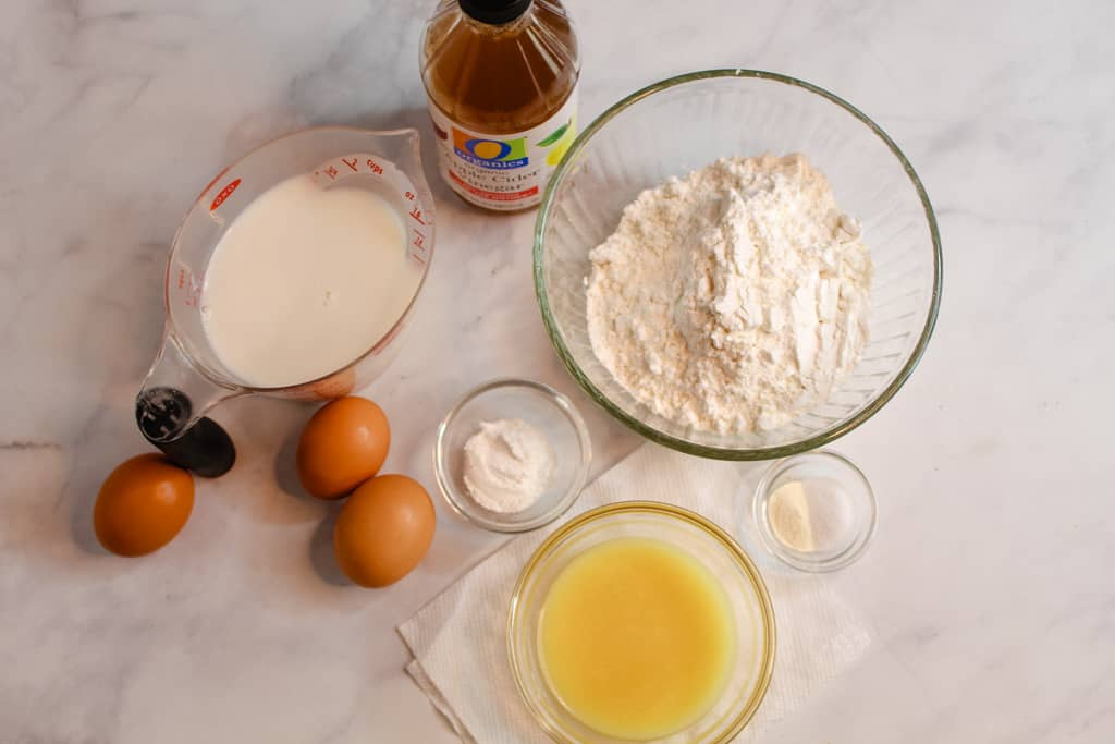 gluten free yeast free bread ingredients on a counter