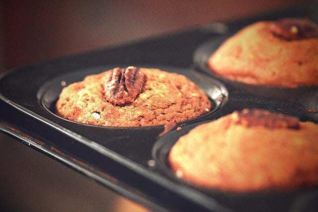 gluten free autumn apple pecan muffins