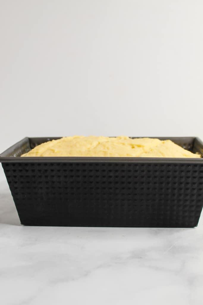 gluten free potato bread after rising