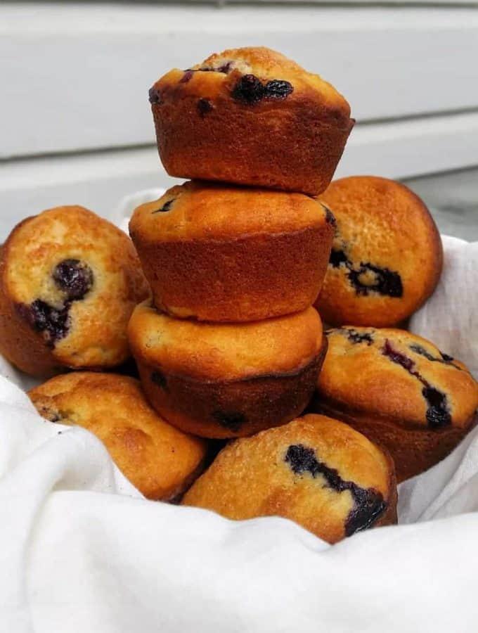 Marvelous Makeover Gluten Free Blueberry Banana Muffins