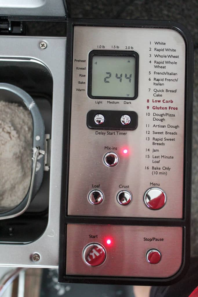 picture of a bread machine showing cycle length