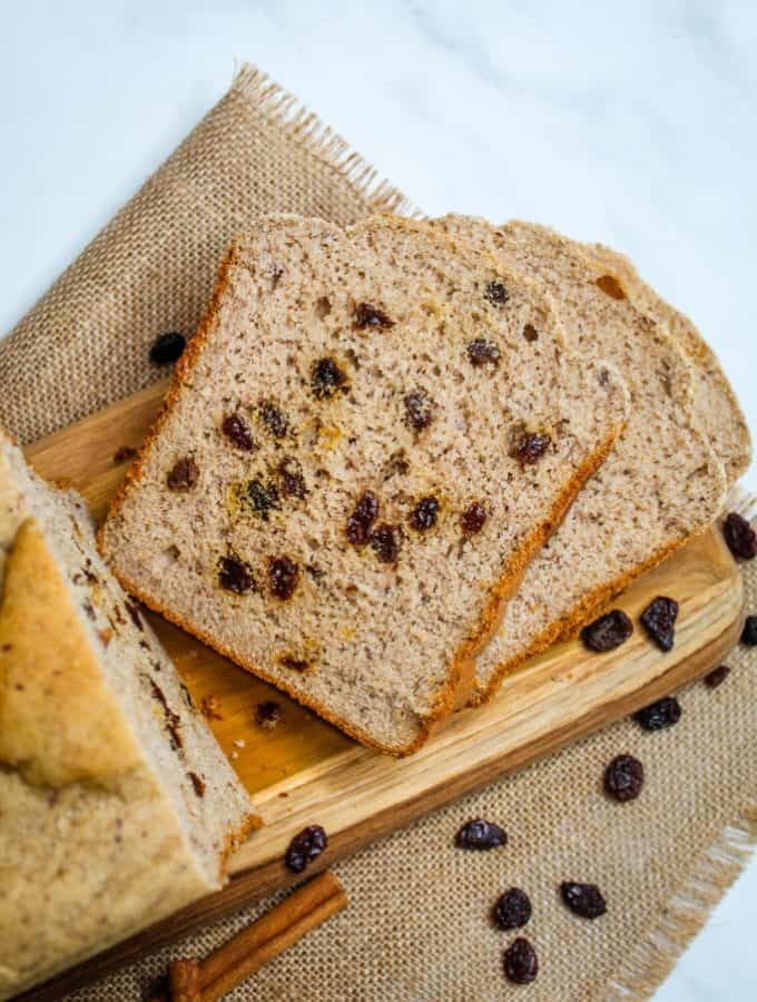 Gluten Free Bread Machine Cinnamon Raisin Bread