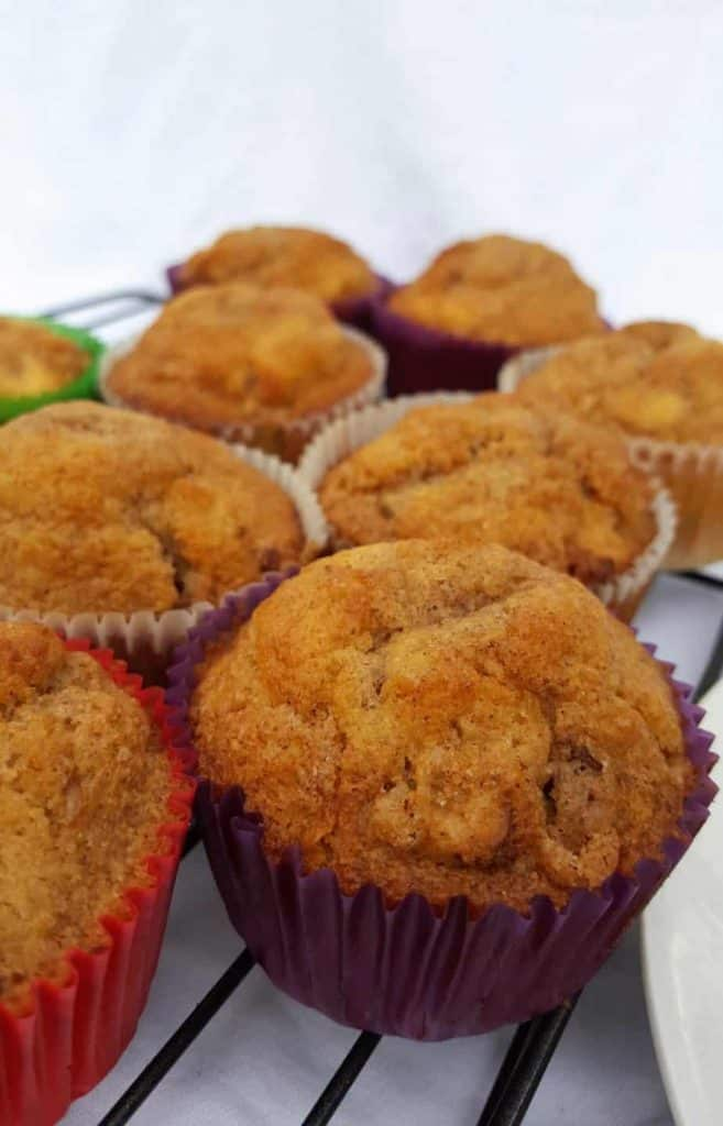 Gluten free cinnamon raisin muffins with streusel topping