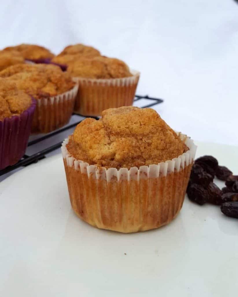 delicious cinnamon raisin muffins