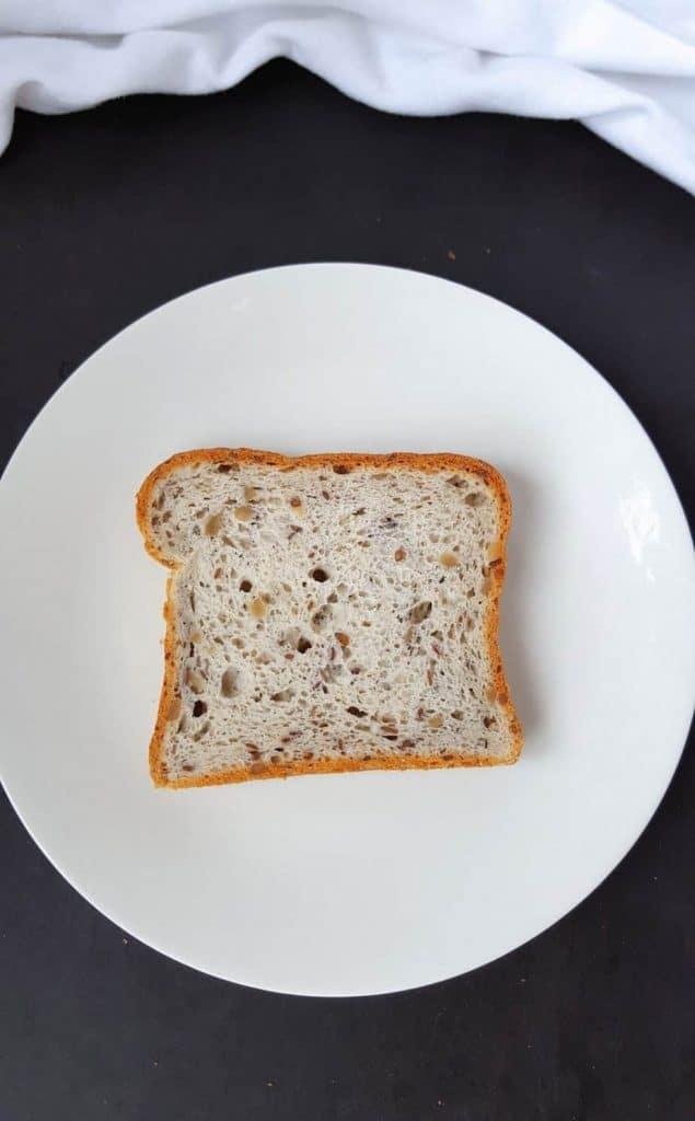 slice of whole grain gluten free bread