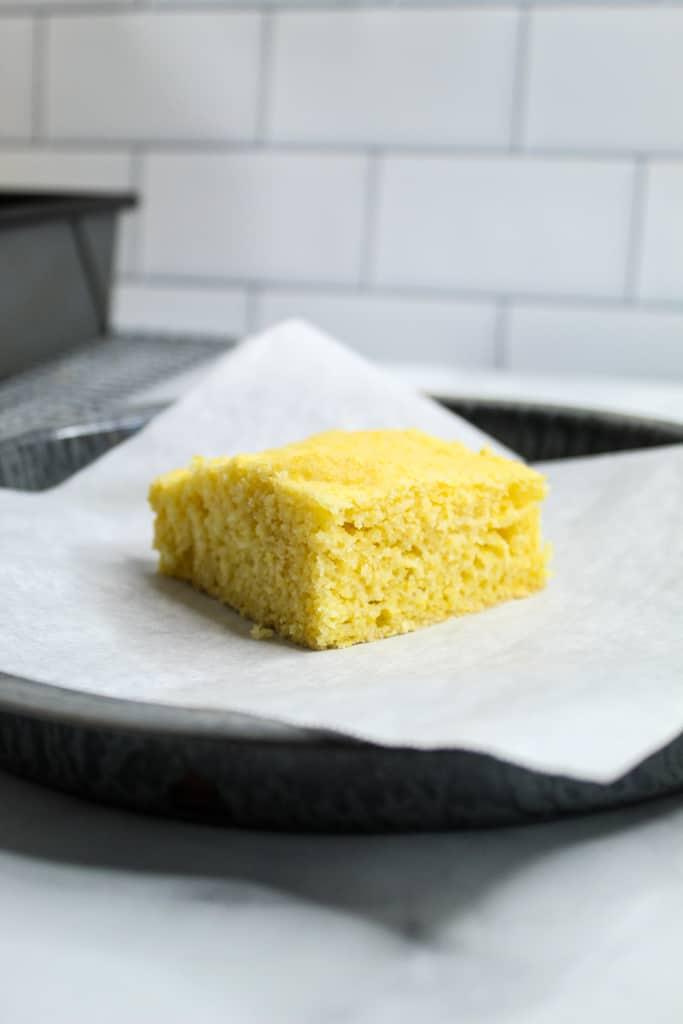 gluten free cornbread sliced
