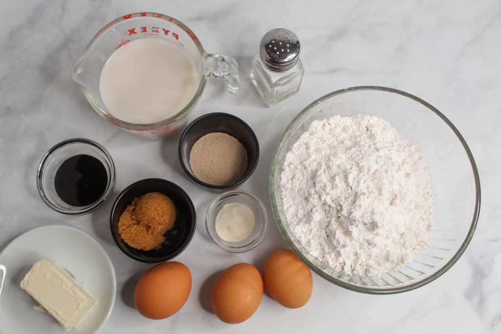 gluten free sandwich bread ingredients on a counter