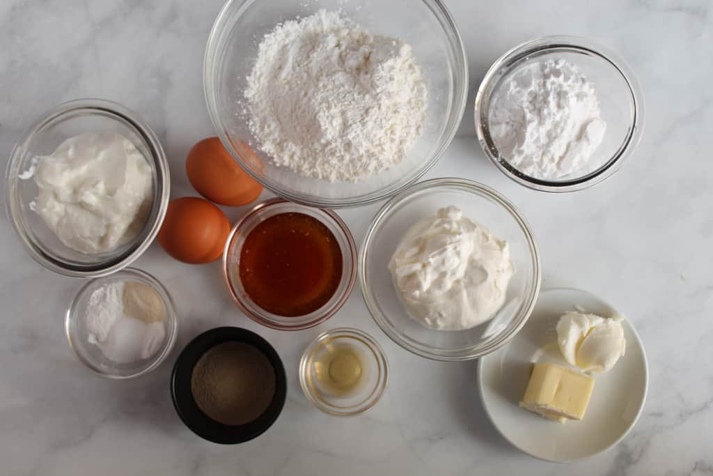 gluten free yeast rolls ready in under an hour ingredients on a white counter