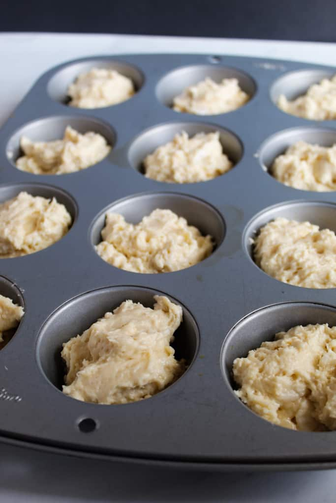 gluten free yeast rolls ready in under an hour portioned in a muffin tin