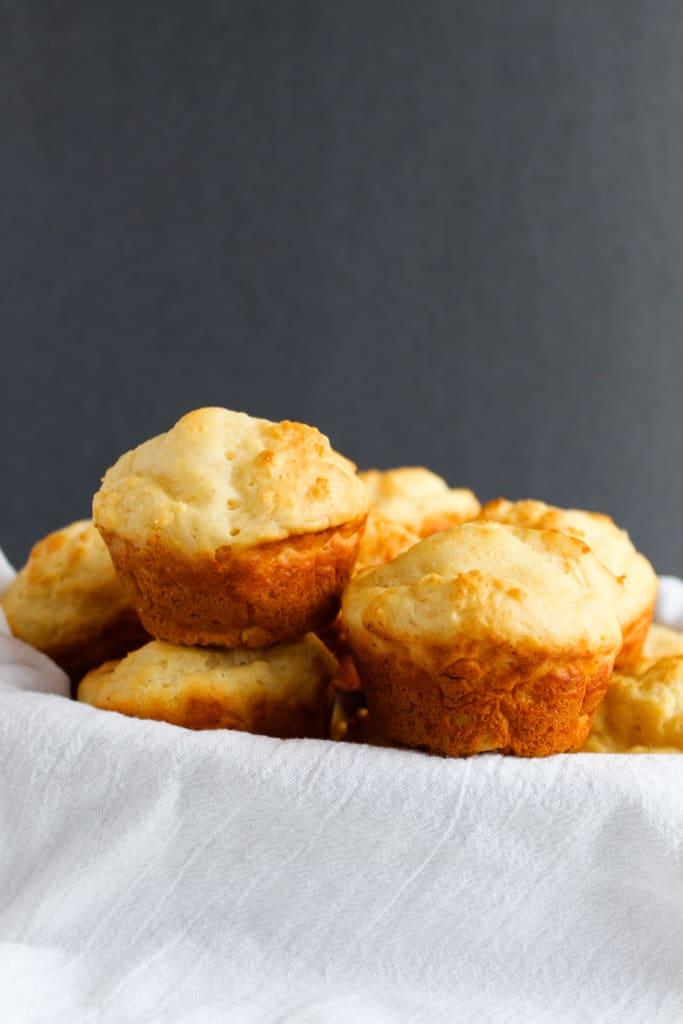 gluten free yeast rolls ready in under an hour served in a basket