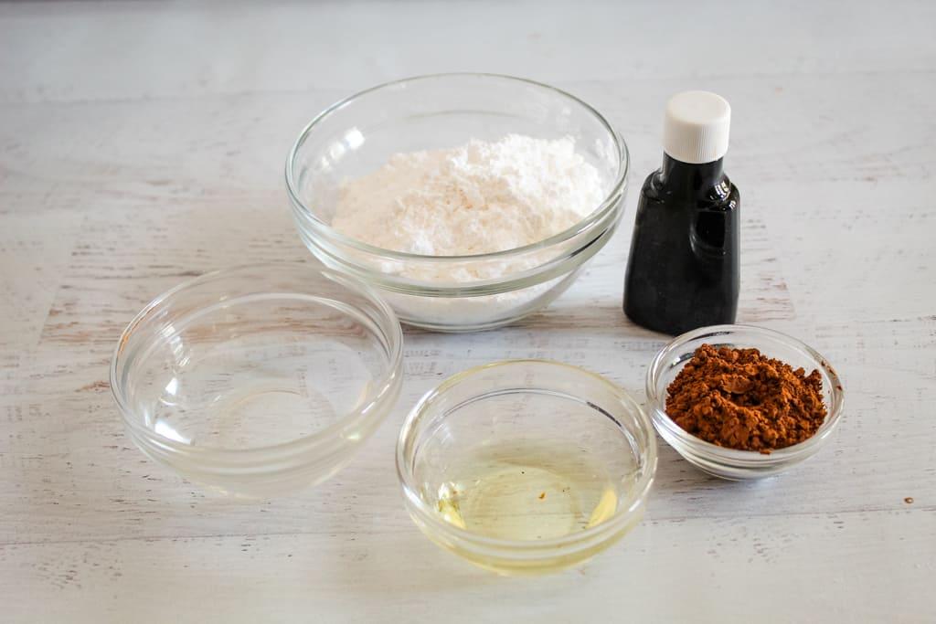 overhead shot of glaze ingredients