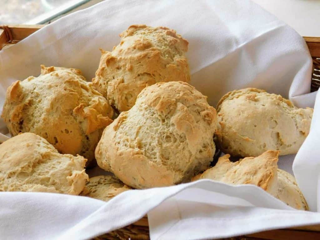 gluten free french bread rolls basket