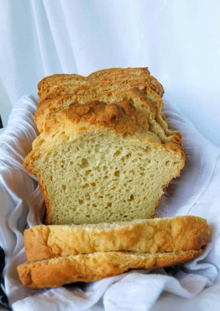 gluten free white bread inside