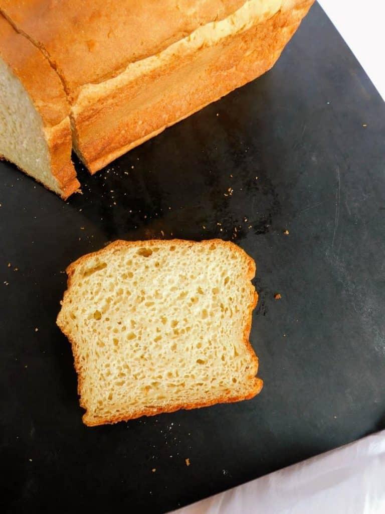 traditional gluten free white bread slice 2
