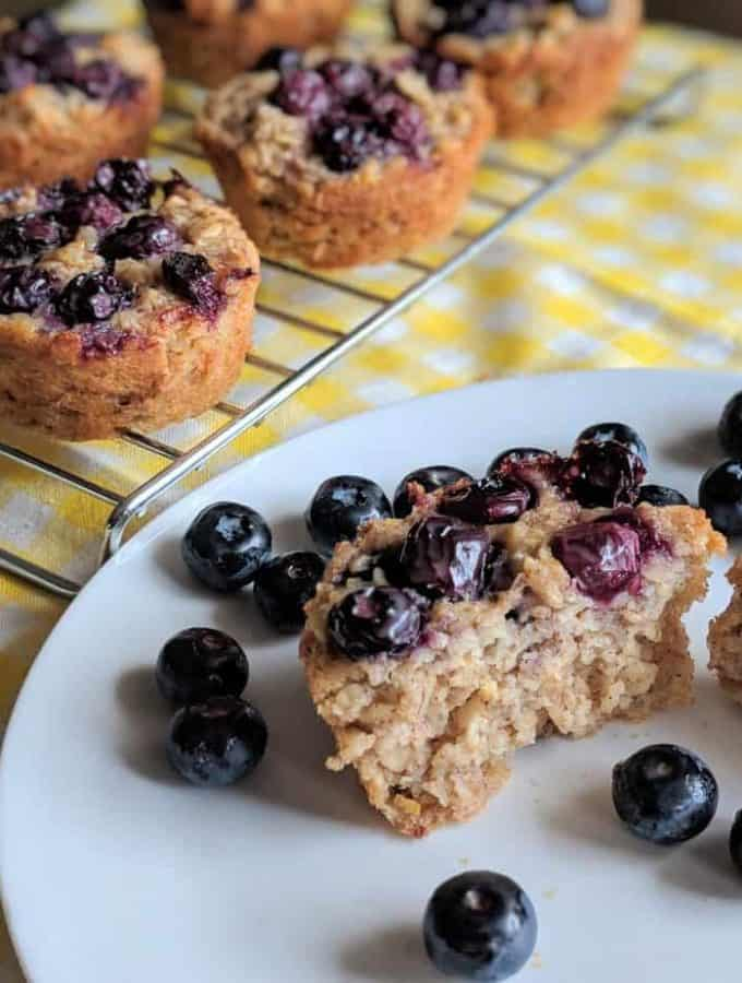 Heart Healthy Gluten Free Blueberry Oatmeal Muffins