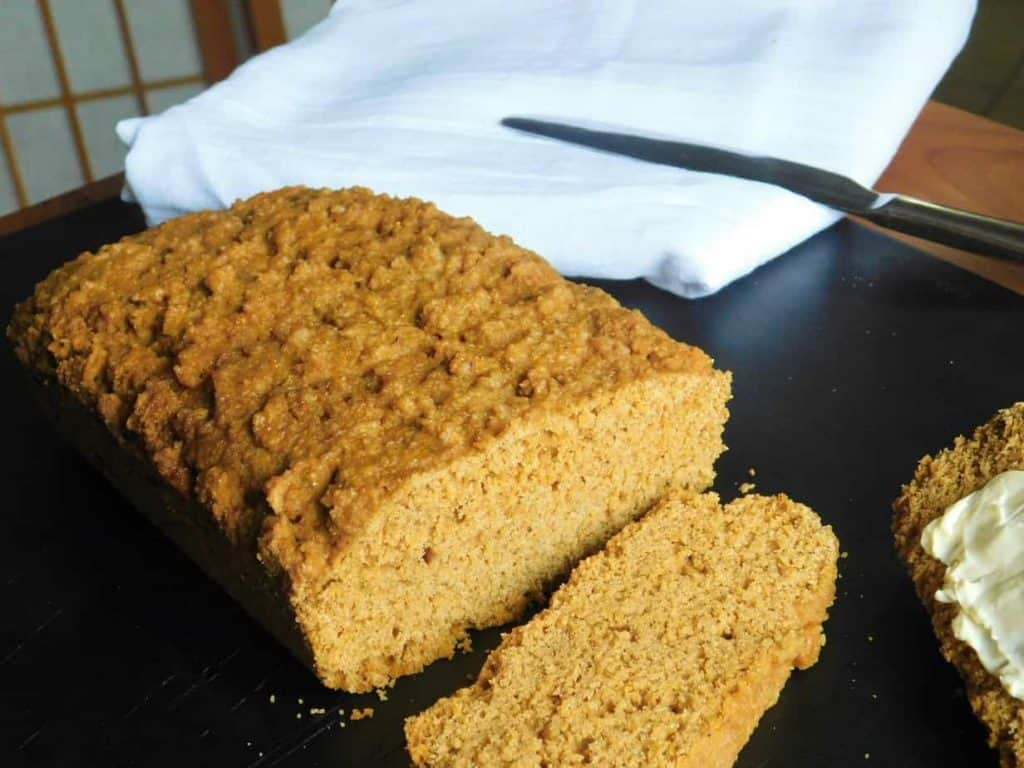 gluten free boston brown bread loaf