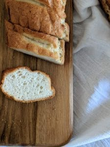 gluten free french bread loaf sliced