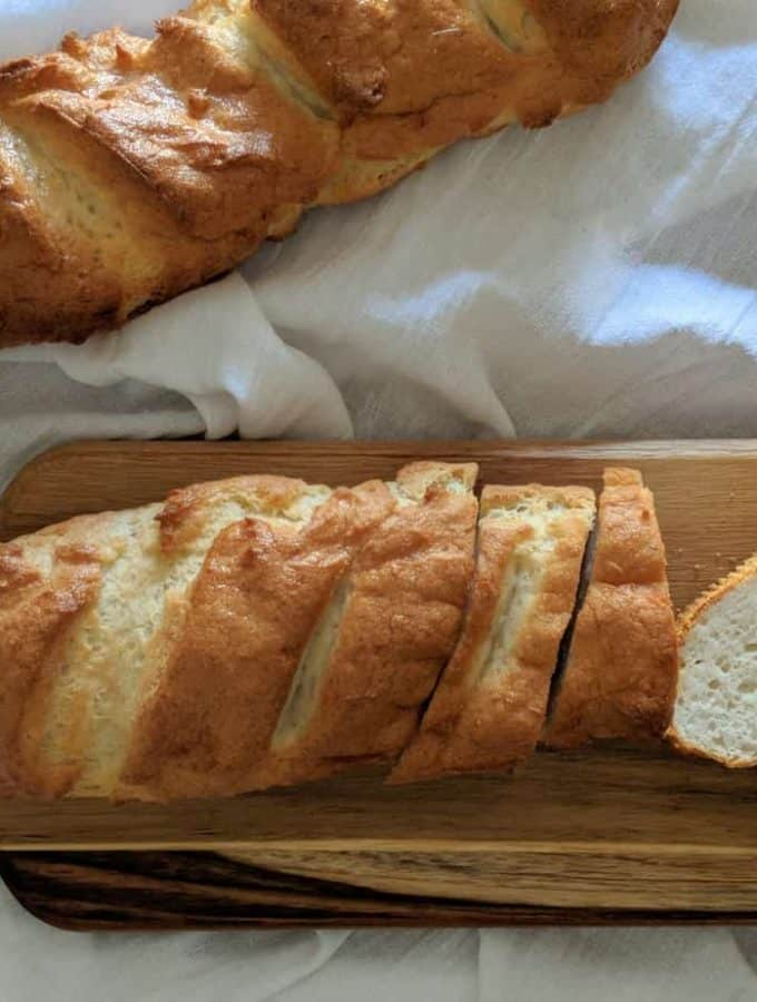 gluten free french bread loaves ready to eat