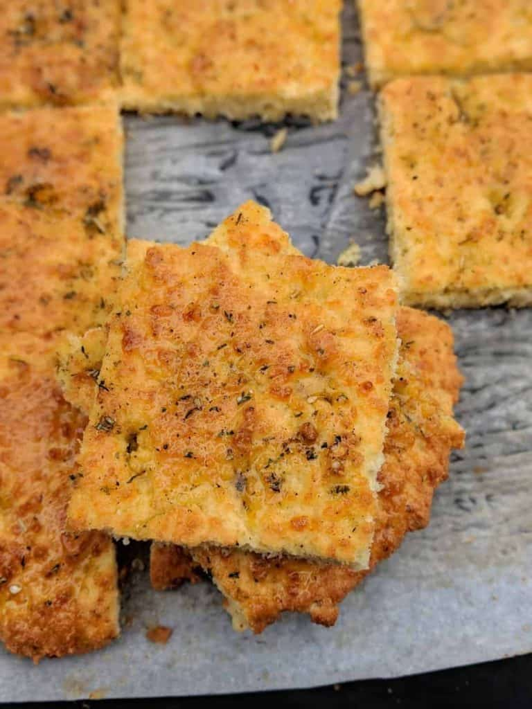 gluten free focaccia bread ready to eat