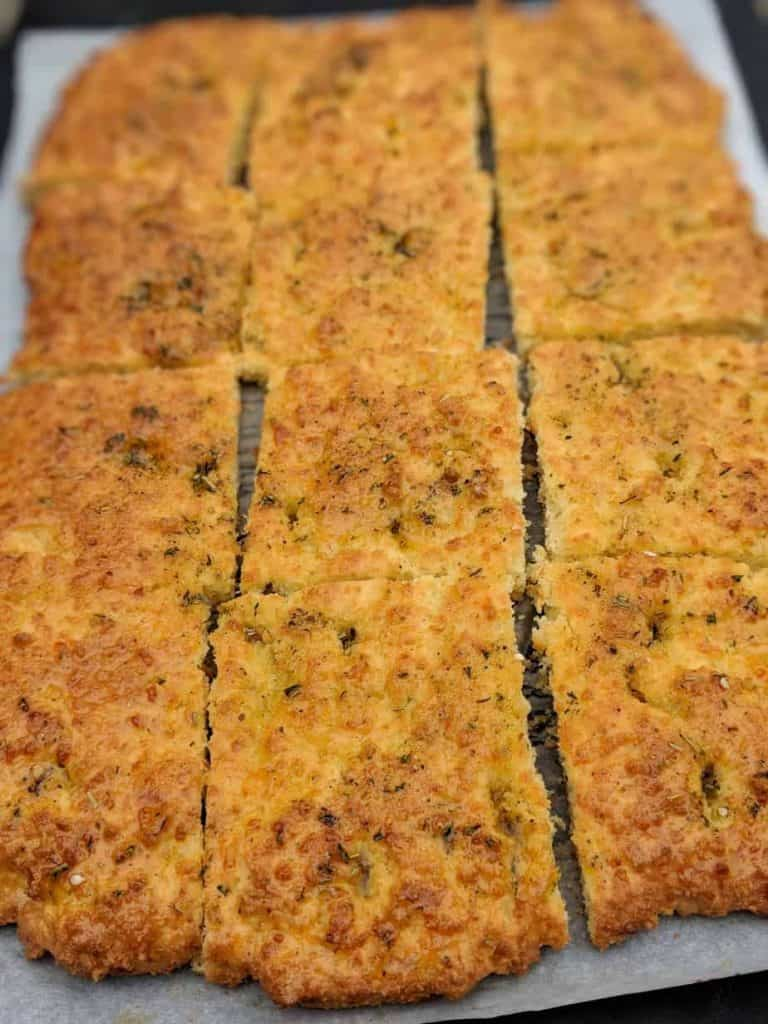 gluten free focaccia bread sliced