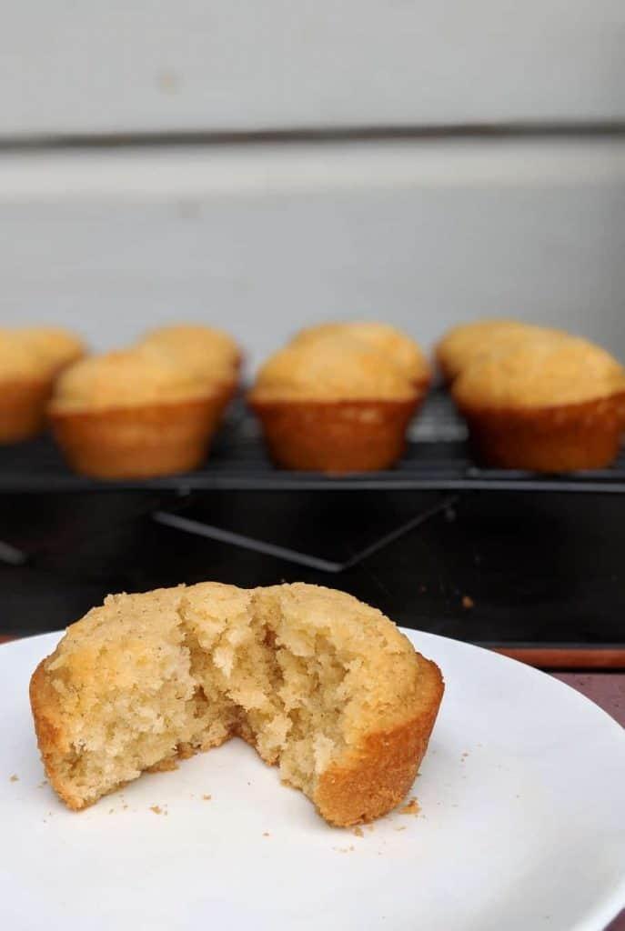 gluten free honey muffins inside