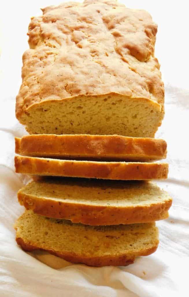 gluten free dairy free italian bread loaf sliced