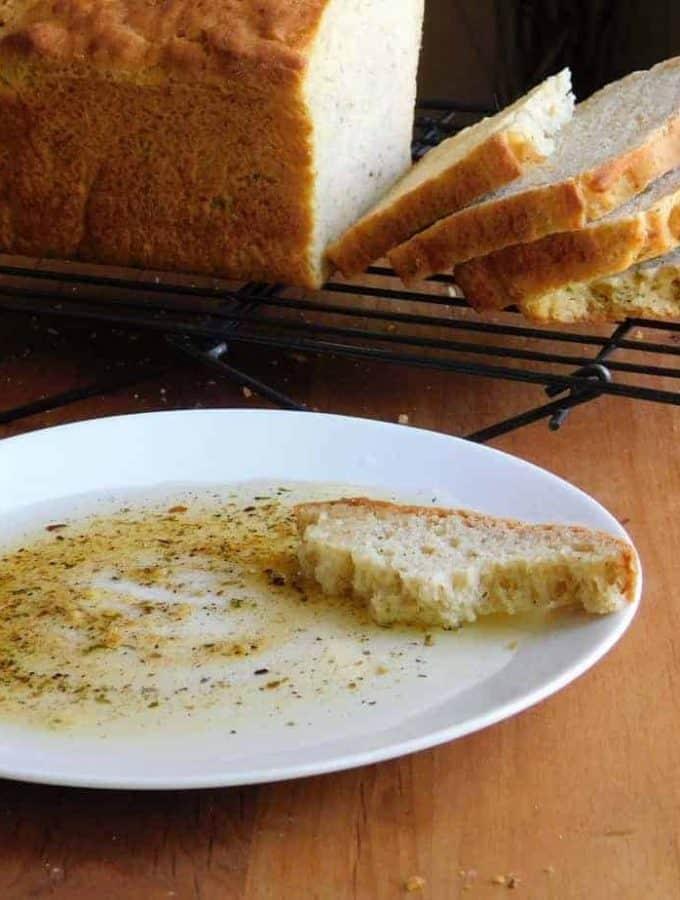 gluten free dairy free italian bread sliced