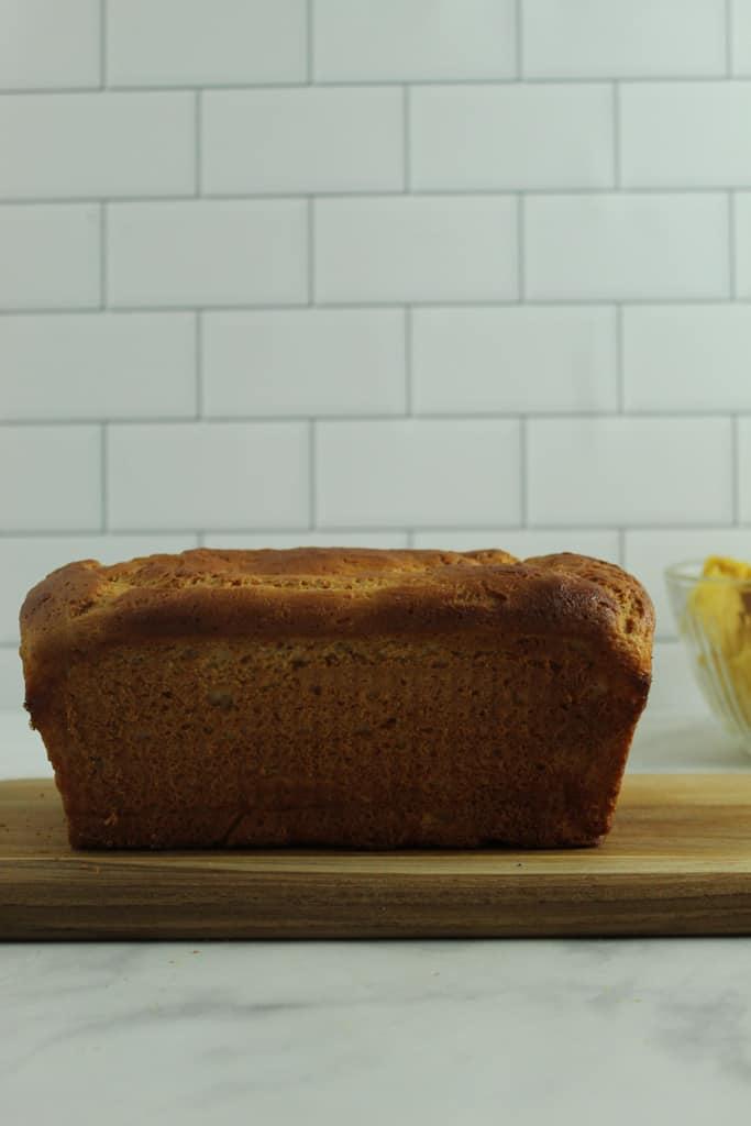 gluten free hawaiian bread baked loaf