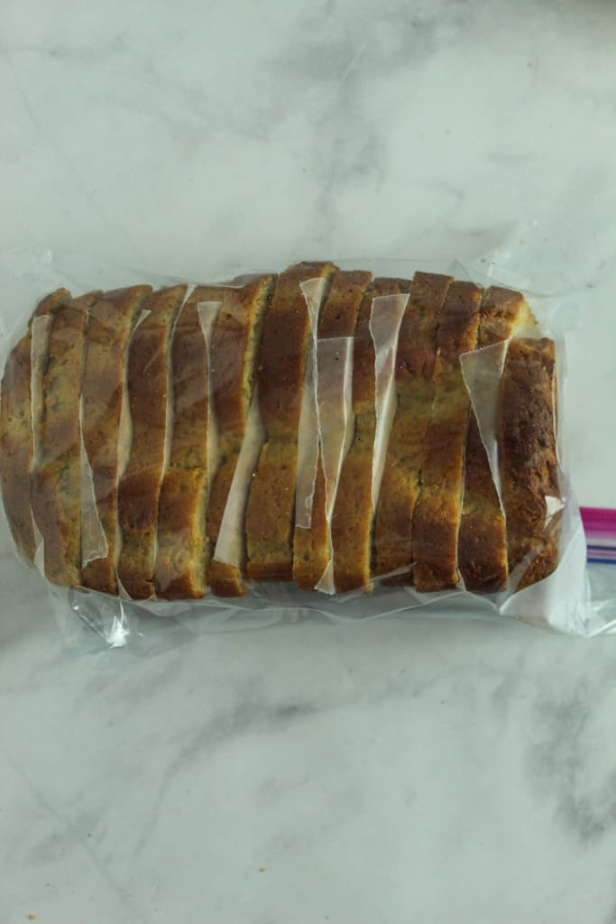 gluten free hawaiian bread sliced and sealed in a plastic bag