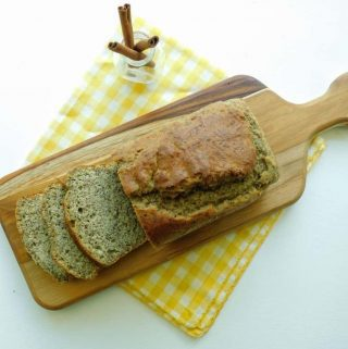 gluten free cinnamon quick bread sliced