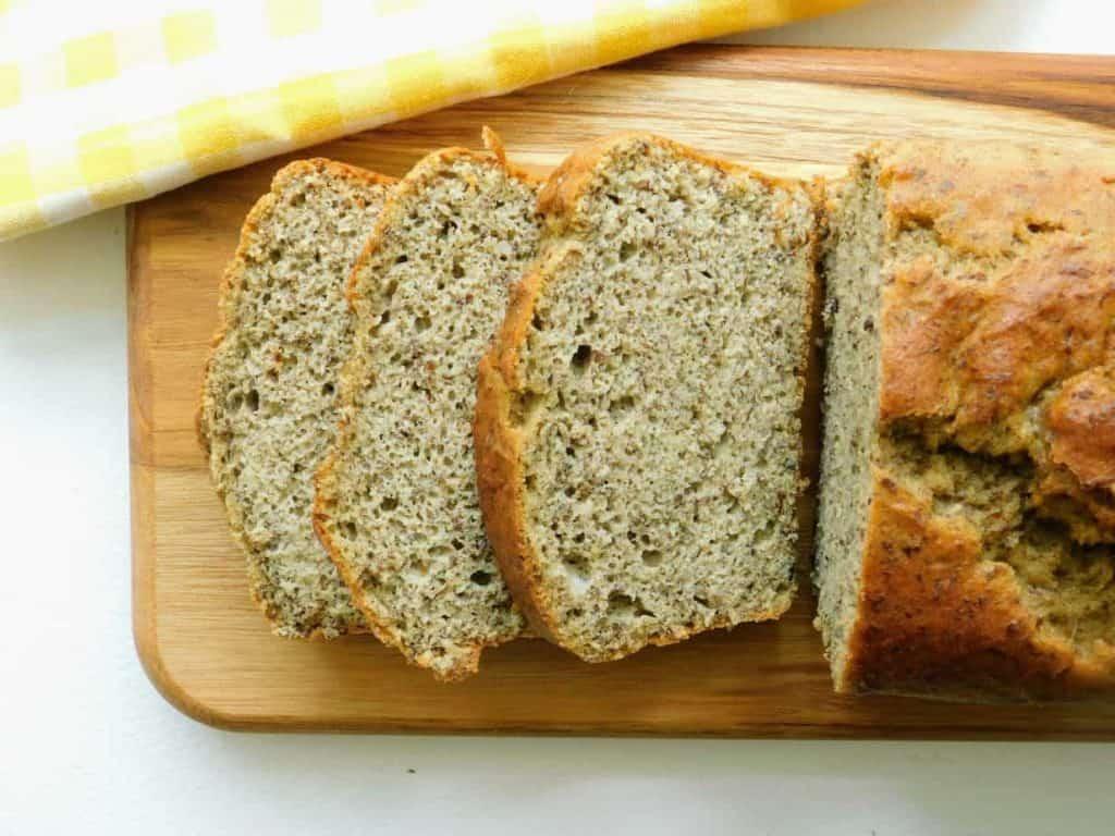 gluten free cinnamon quick bread slices