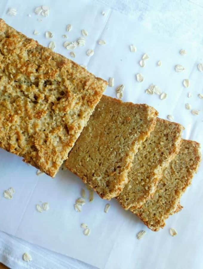 Gluten Free Oatmeal bread sliced