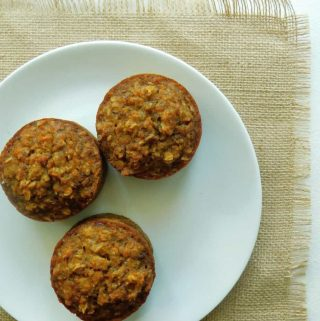 gluten free carrot apple muffins ready to eat