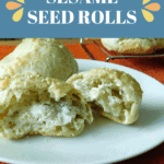 pin for gluten free sesame seed rolls
