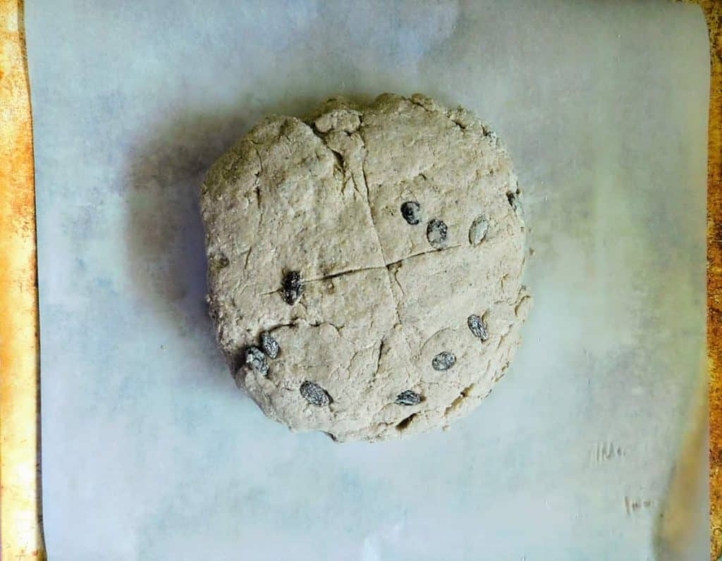 gluten free cinnamon raisin artisan bread dough
