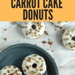 Gluten Free Carrot Cake Donuts
