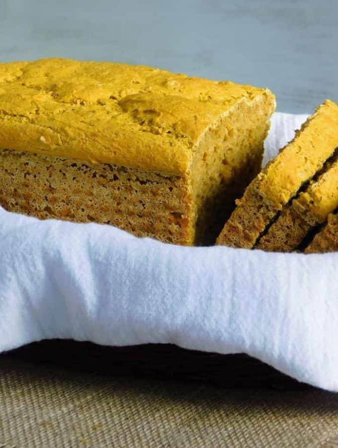 Gluten Free Pumpkin Yeast Bread {Dairy Free Option}