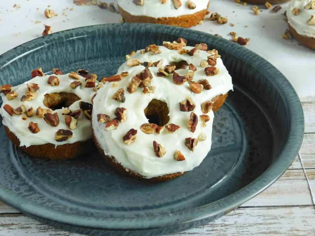 gluten free carrot cake donuts cream cheese icing
