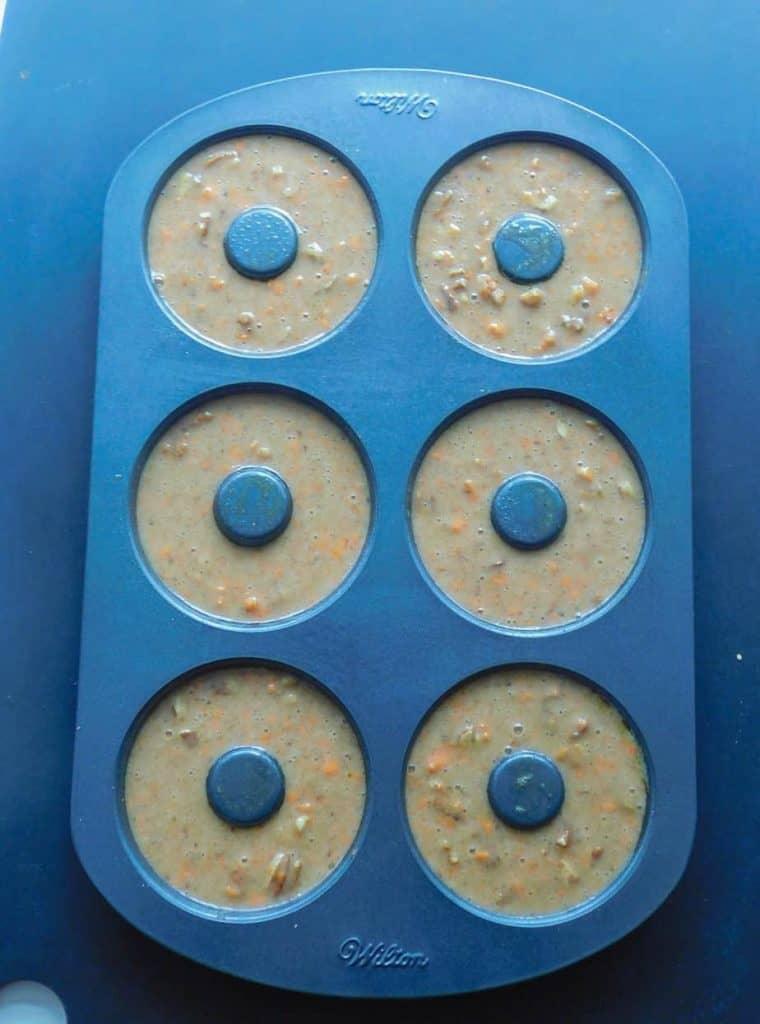 gluten free carrot cake donuts donut pan