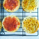 gluten free english muffins close up