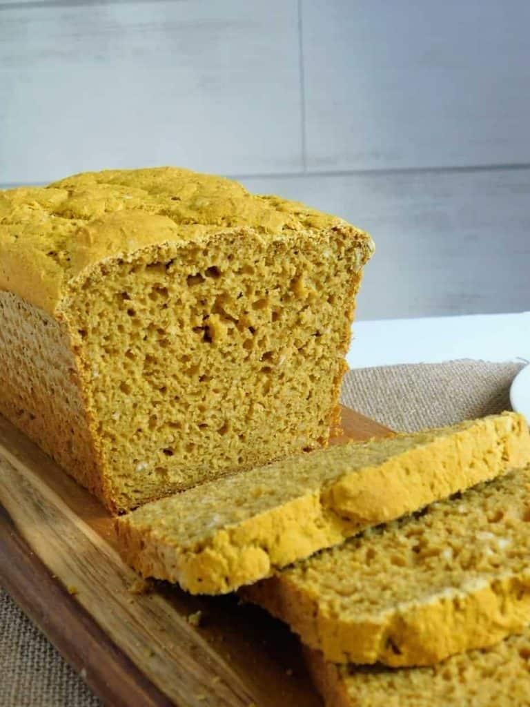 gluten free pumpkin yeast bread loaf