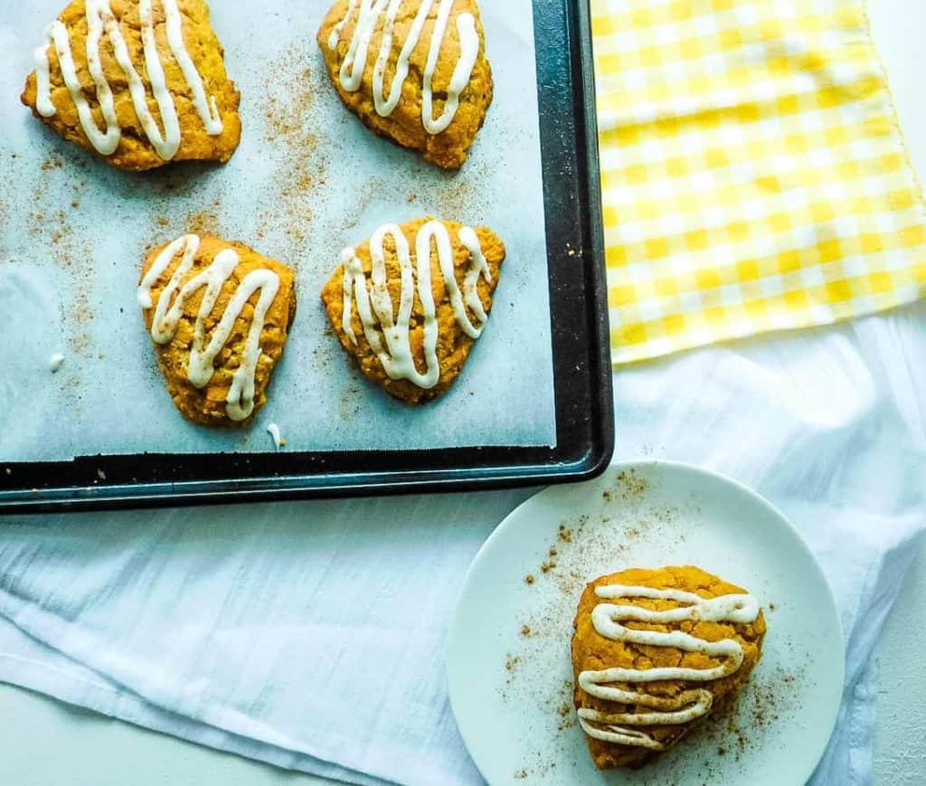 gluten free pumpkin scones served