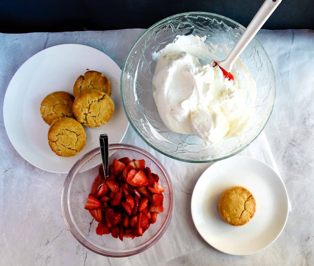 Gluten free strawberry shortcakes ingredients