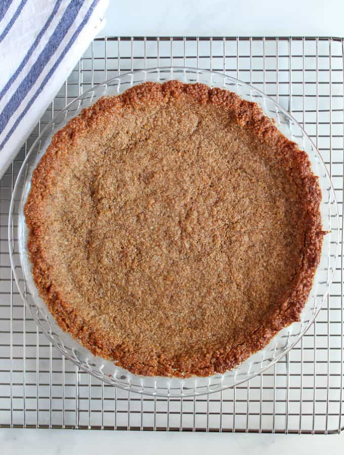 Almond Flour Graham Cracker Crust: Gluten Free and Low Carb